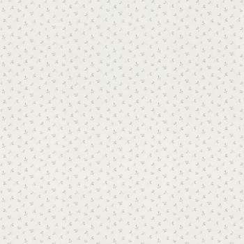 Tapete Weiß Vlies Blätter Grau