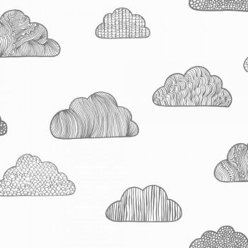 Weiß Wolkentapete