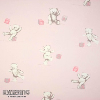 Light-Pink Teddy Bear Deco Fabric Girl