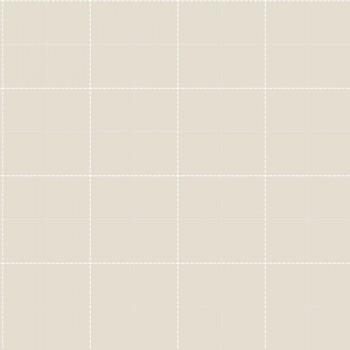Beige-Grau Karomuster Vlies Tapete