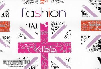 non-woven wallpaper fashion pink girl