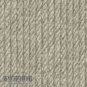 Used Look Sand Grey Rope non-woven Wallpaper
