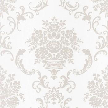 Vlies Tapete Hell-Grau Ornamente