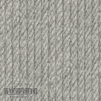 Used Look Grey rope-optic non-woven wallpaper