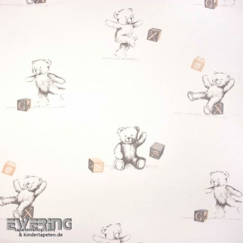 Deco Fabric Cream Teddy Bear Baby Room