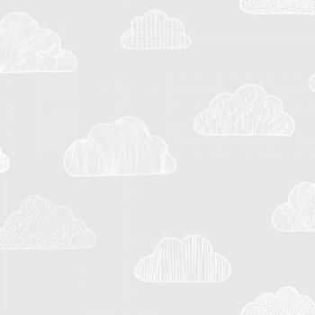 Cloud Wallpaper Grey