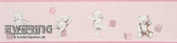 pink border wallpaper teddy bear