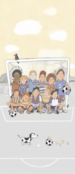 Football Wall Picture Light Yellow Grey
