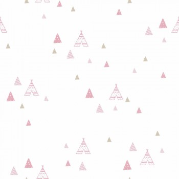 wallpaper tipis pink beige girl