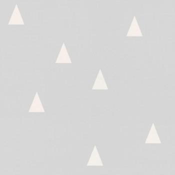 Grau Dreiecke Vliestapete