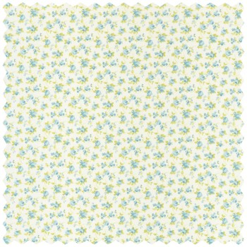 Decoration fabric light-blue flowers