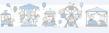 Borte Tiere Kirmes Blau Lullaby