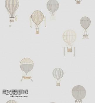 Heißluftballons Beige Dekostoff