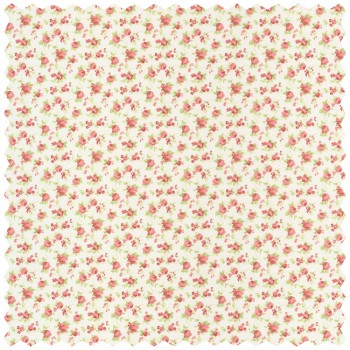 Red Cream Deco Fabric Flowers